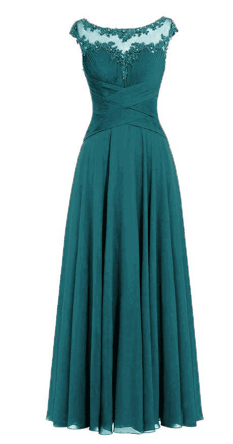 Jessica Beau Melanie Teal Green Kingfisher Peacock Lace Chiffon Pleated Long Bridesmaid Wedding Bridal Prom Evening Dress UK