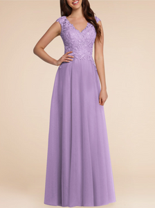 Lilac mauve lace chiffon long bridesmaid wedding bridal prom evening dress loulous bridal boutique uk