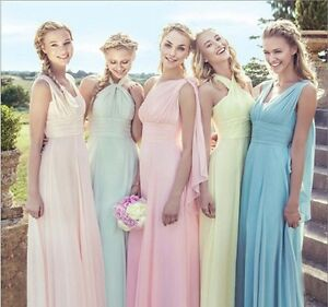 Darcy Aqua Spa Blue Turquoise Multiway Multi Way Infinity Chiffon long bridesmaid wedding bridal prom evening dress uk