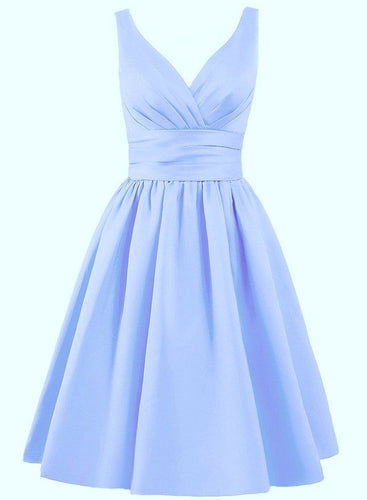 Pale Blue Satin Short Bridesmaid Wedding Bridal Special Occasion Dress Loulous Bridal Boutique Ltd Bridget