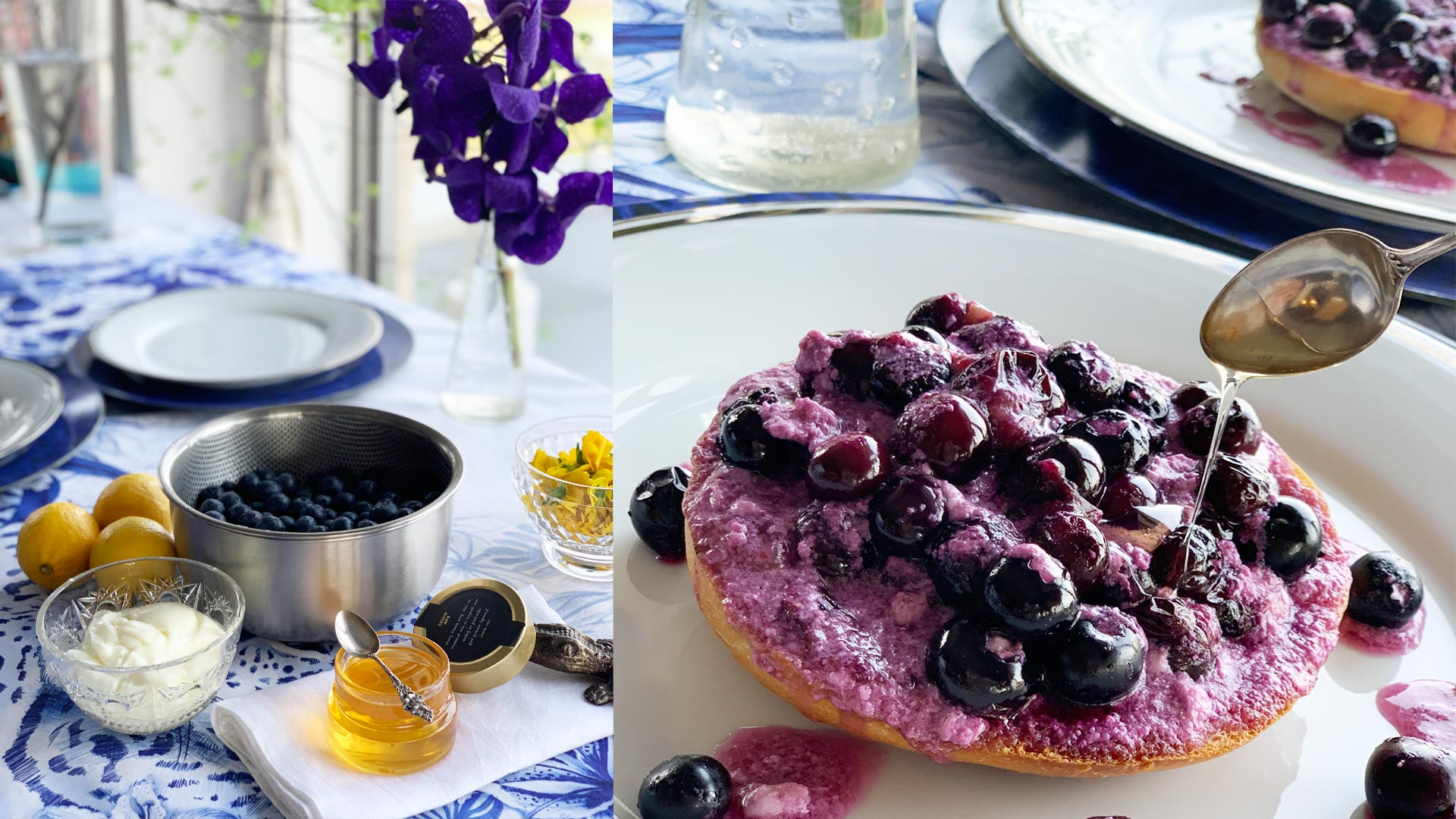 blueberry honey bagel recipe