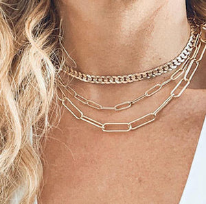 PAPERCLIP CHOKER>>BE BOLD BABE