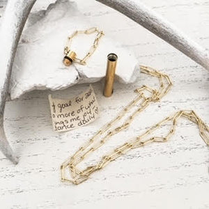 LETTER LOCKET⫸PAPERCLIP CHAIN