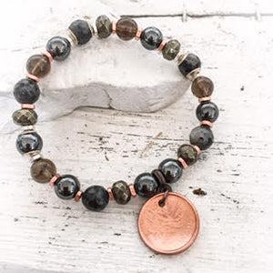 HEMATITE & PYRITE LUCKY PENNY