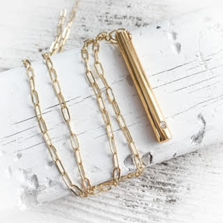 LETTER LOCKET>>PAPERCLIP CHAIN