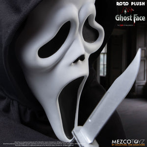"Mezco Toyz Mezco Designer Series Scream Roto Plush Ghost Face Large Scale 18"" Doll Figure"