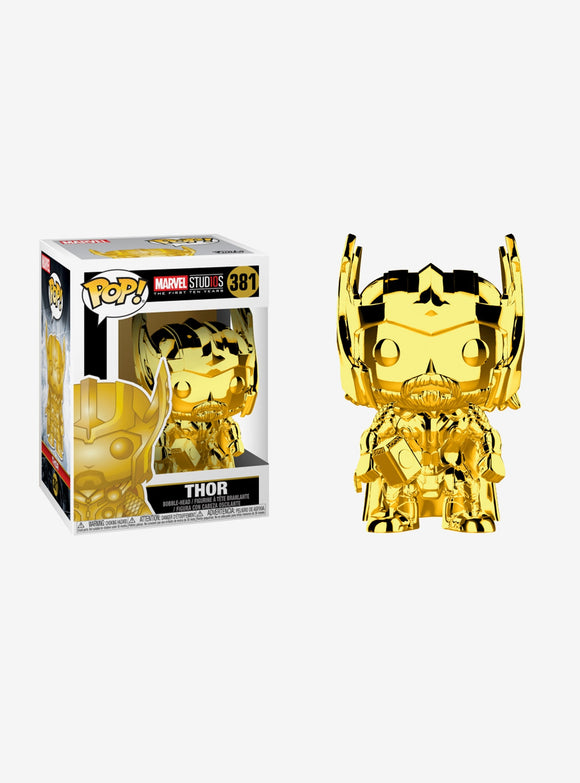 Funko Pop! Marvel: Marvel Studios 10th Anniversary - Thor (Gold Chrome) Vinyl Figure