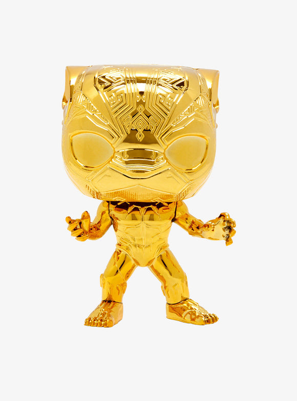 Funko Pop Marvel Studios 10th Anniversary Black Panther (Gold Chrome) Figure