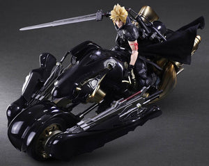 Square Enix Final Fantasy VII Advent Children Play Arts Kai Cloud Strife & Fenrir Bike Action Figure Set
