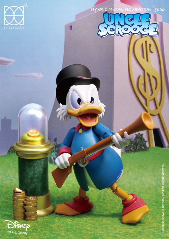 HEROCROSS Hybrid Metal Figuration 060 Disney Scrooge McDuck Diecast Action Figure