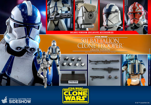 Hot Toys Star Wars The Clone Wars Clone Troopers 501st Battalion Clone Trooper (Deluxe) 1/6 Scale 12
