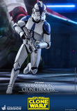 "Hot Toys Star Wars The Clone Wars Clone Troopers 501st Battalion Clone Trooper 1/6 Scale 12"" Collectible Figure"