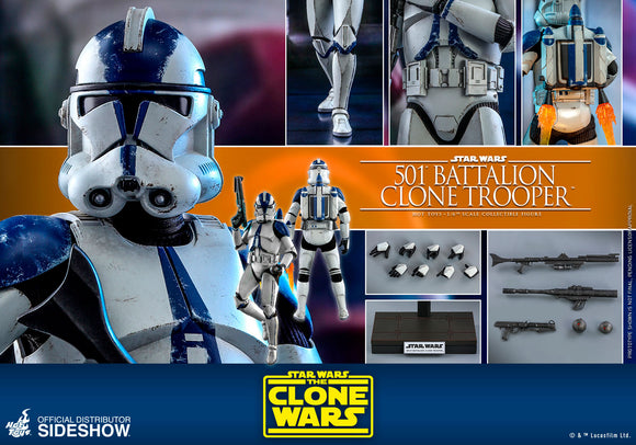 Hot Toys Star Wars The Clone Wars Clone Troopers 501st Battalion Clone Trooper 1/6 Scale 12