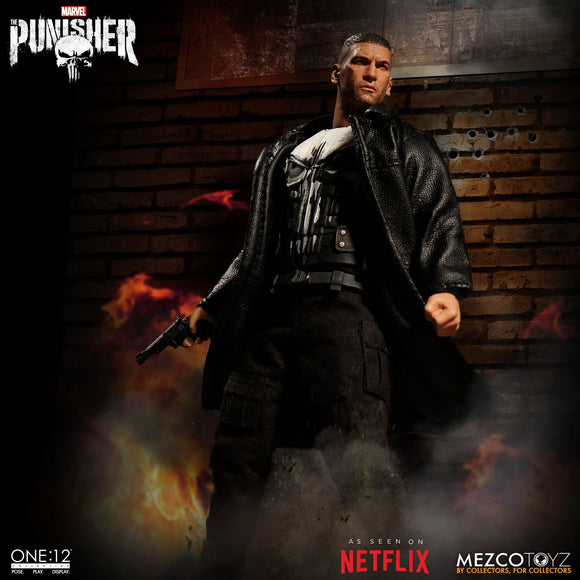 Mezco Toyz One:12 Collective Marvel Comics Punisher 1/12 Scale 6
