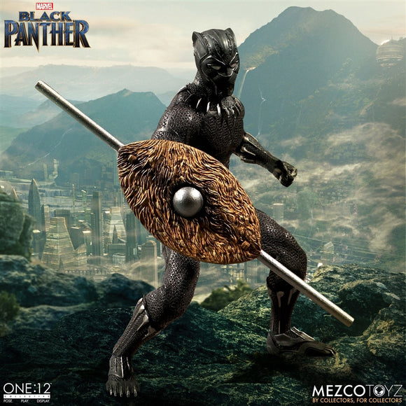 Mezco Toyz One12 Collective Marvel Comics Black Panther 1/12 Scale 6