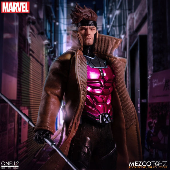 Mezco Toyz One:12 Collective Marvel Comics X-Men Gambit 1/12 Scale Action Figure