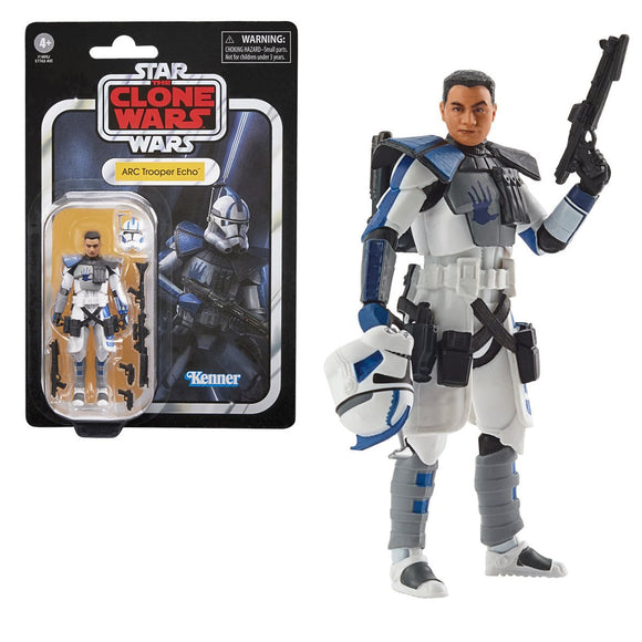 Hasbro Star Wars The Vintage Collection Clone Trooper Echo (The Clone Wars) 3 3/4-Inch Action Figure