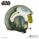 ANOVOS ROGUE ONE: A STAR WARS STORY General Merrick Blue Squadron X-Wing Helmet Accessory Prop Replica Helmet