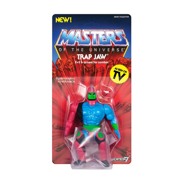Super7 Masters of the Universe Vintage Wave 3 Collction Trap Jaw Action Figure