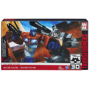 Hasbro Transformers Platinum One Shall Stand, One Shall Fall Optimus Prime Megatron Set