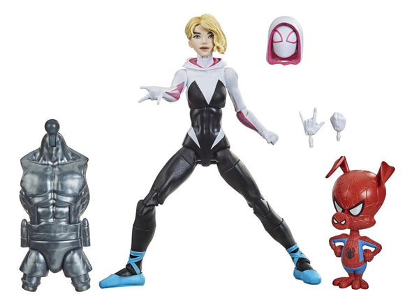 Hasbro Marvel Legends Spider-Man Into the Spider-Verse Gwen Stacy (Stilt-Man BAF) 6-Inch Action Figure