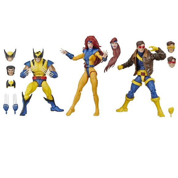 Hasbro Marvel Comics 80th Anniversary Marvel Legends X-Men Jean Grey, Cyclops, and Wolverine 6-Inch Action Figure 3-Pack