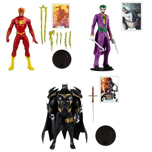 DC Multiverse Wave 3 Set of 3 Action Figures Batman: Curse of the White Knight DC Multiverse Azrael Batman Armor, The Joker & The Flash