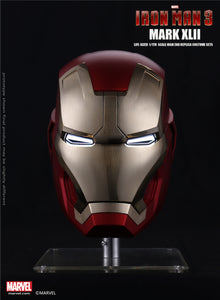 Dimension Studio Marvel Iron Man 3 Iron Man Mark XLII 42 1:1 Full Size Electronic Motorized Wearable Helmet Movie Prop Replica