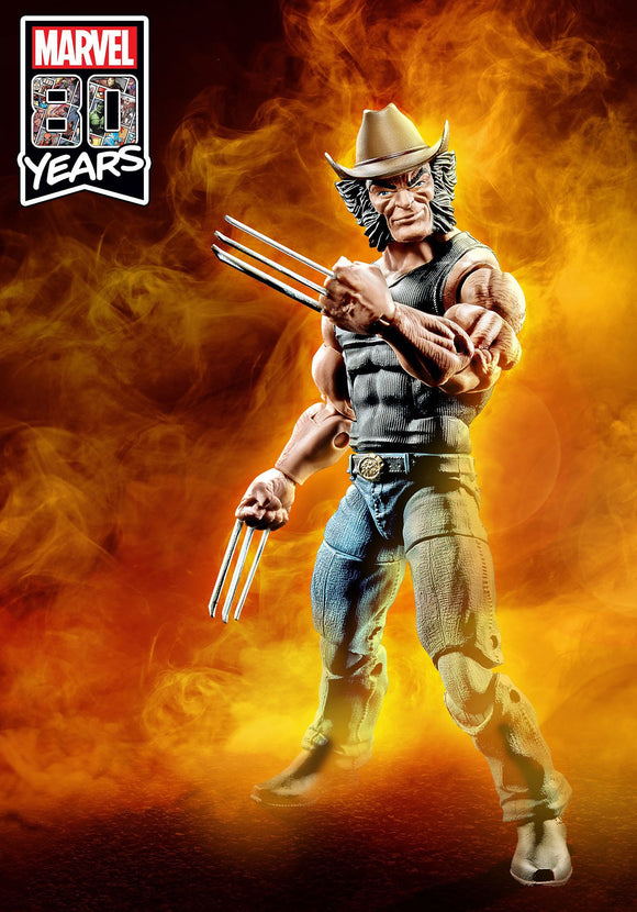 Hasbro Marvel Comics 80th Anniversary Marvel Legends Cowboy Logan Wolverine Figure