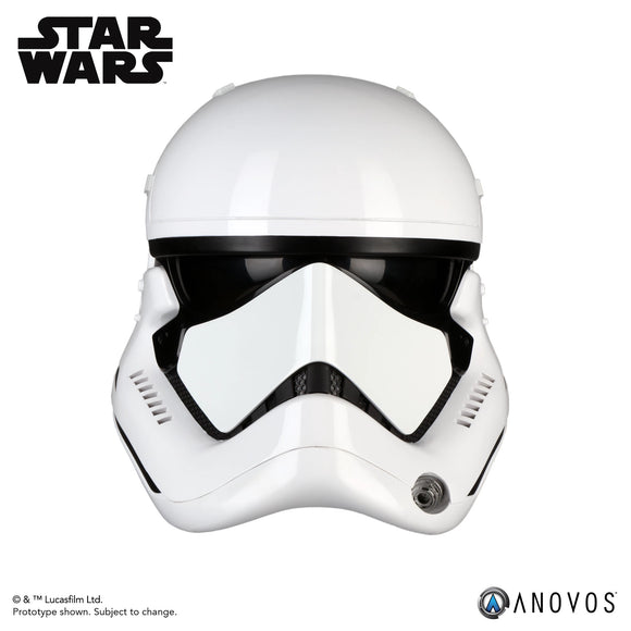 ANOVOS STAR WARS: LAST JEDI First Order Stormtrooper Helmet Adult Full Size Movie Prop Replica