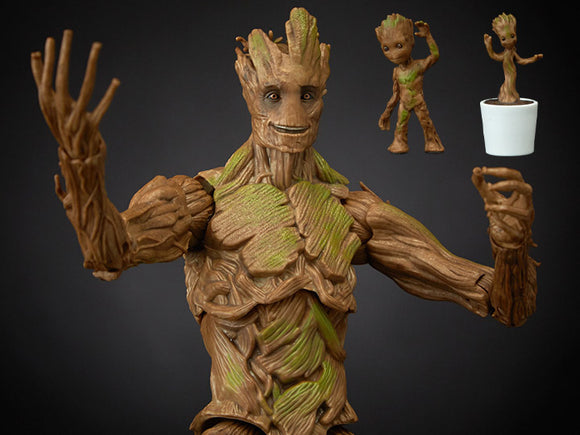Hasbro Marvel Legends Guardians of the Galaxy Marvel Legends Groot Evolution Figures Set