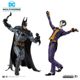 McFarlane Toys Batman Arkham Asylum DC Multiverse Batman and The Joker 2 Pack Action Figure Set