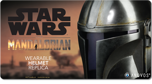 ANOVOS STAR WARS The Mandalorian Helmet Adult Full Size 1:1 Scale Wearable Movie Prop Replica