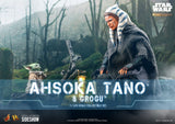 Hot Toys Star Wars The Mandalorian - Television Masterpiece Series DX21 Ahsoka Tano and Grogu 1/6 Scale Collectible Figure Set