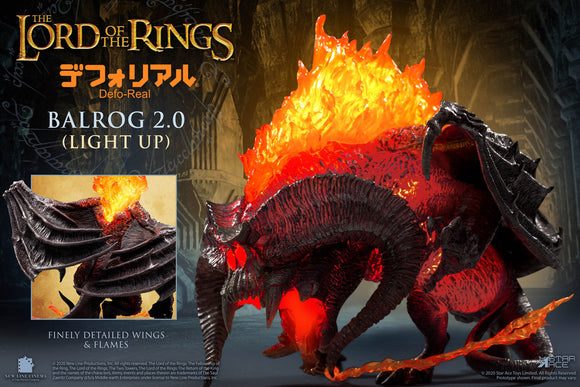 Star Ace Balrog 2.0 (Light Up Version) Vinyl Collectible Figure - The Lord of the Rings - Defo-Real Series