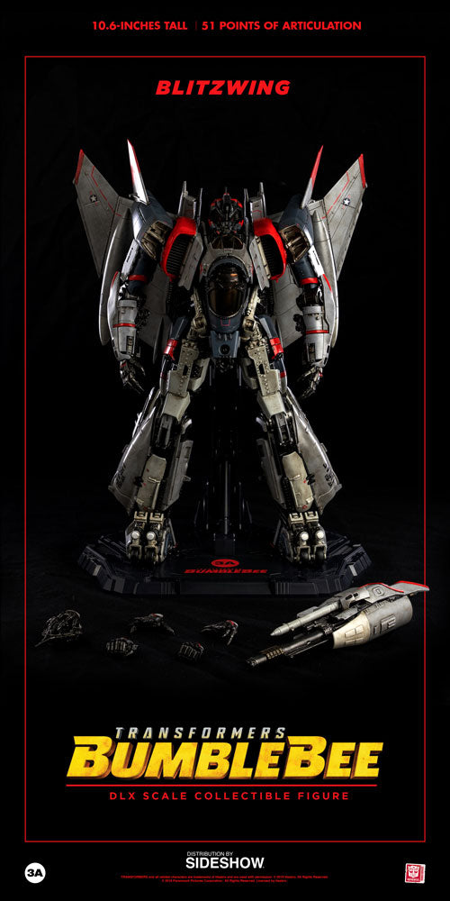 ThreeA Toys Transformers Blitzwing DLX Collectible Figure