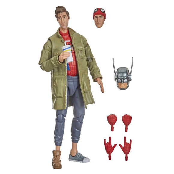 Hasbro Marvel Legends Spider-Man Into the Spider-Verse Peter B. Parker (Stilt-Man BAF) 6-Inch Action Figure