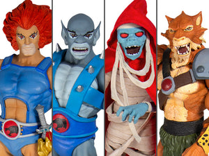 Super7 Thundercats Ultimate Wave 1 Set of 4 Figures Lion-O, Panthro, Mumm-Ra & Jackalman