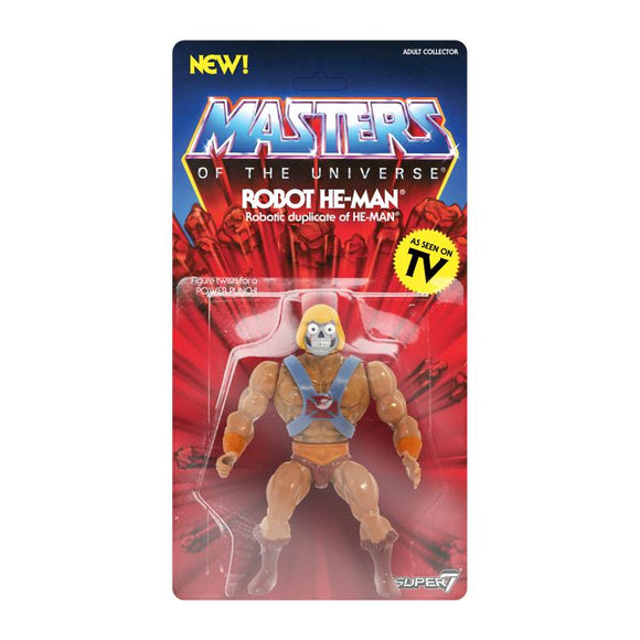 Super7 Masters of the Universe Vintage Wave 2 Collction Robot He-Man Action Figure
