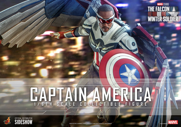 Hot Toys Marvel The Falcon and the Winter Soldier Television Masterpiece Series Captain America (Sam Wilson) 1/6 Scale Collectible Figure