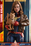Hot Toys Marvel Comics Captain Marvel Deluxe Verion 1/6 Scale Collectible Figure