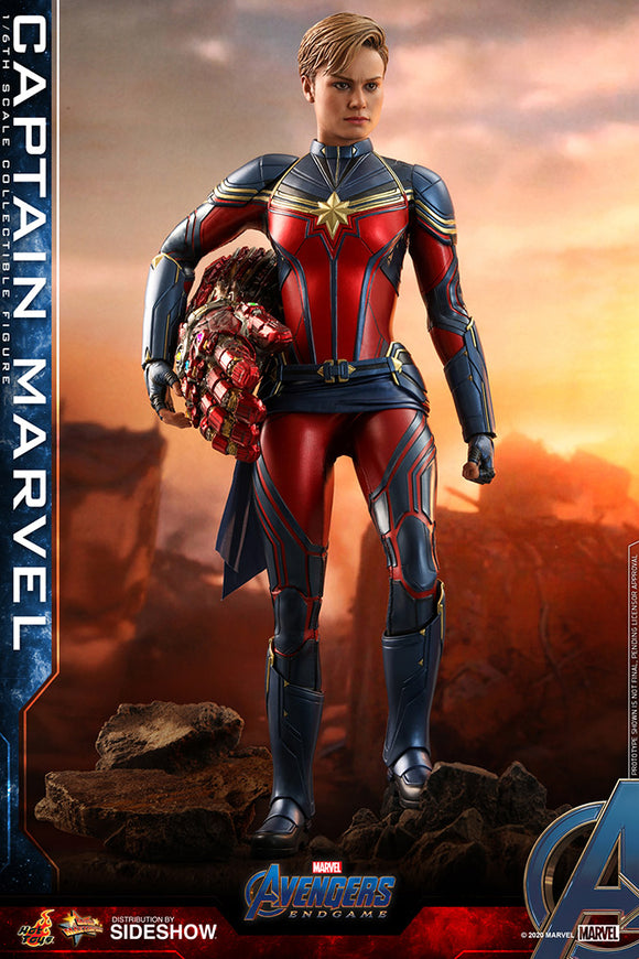 Hot Toys Marvel Comics Avengers Endgame Captain Marvel 1/6 Scale Collectible Figure