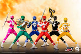 "Threezero Mighty Morphin Power Rangers Core Rangers + Green Ranger Six Pack 1/6 Scalre 12"" Collectible Figure Set"