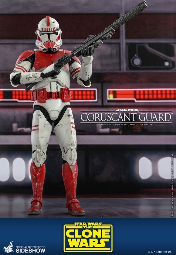 Hot Toys Star Wars The Clone Wars Coruscant Guard Clone Trooper 1/6 Scale 12
