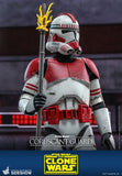 "Hot Toys Star Wars The Clone Wars Coruscant Guard Clone Trooper 1/6 Scale 12"" Collectible Figure"