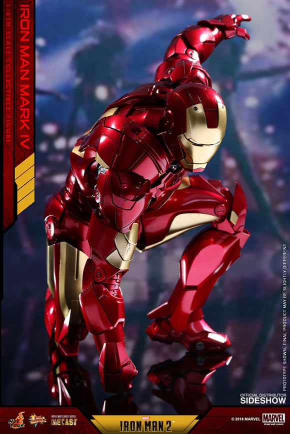 Hot Toys Marvel Iron Man 2 Iron Man Mark IV Diecast 1/6 Scale 12