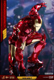 "Hot Toys Marvel Iron Man 2 Iron Man Mark IV Diecast 1/6 Scale 12"" Figure"
