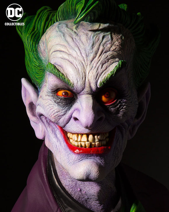 DC Comics Collectibles 1:1 Scale - DC Gallery: Rick Baker The Joker Bust (Standard Edition)