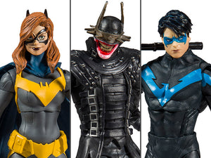 McFarlane DC Multiverse Set of 3 Action Figures Dark Nights: Metal, Nightwing & Batgirl (DC Rebirth Build-A-Batmobile)