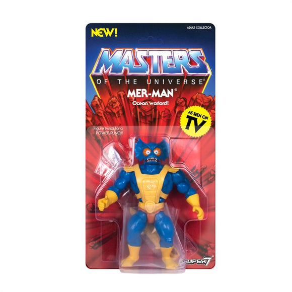 Super7 Masters of the Universe Vintage Wave 3 Collction Mer-Man Action Figure